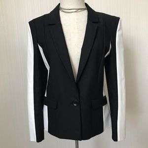 H&M Black and White Blazer with Lining